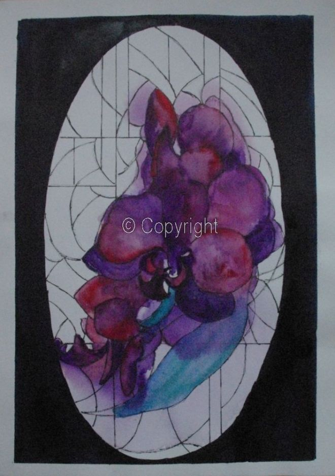 Orchid Stained Glass